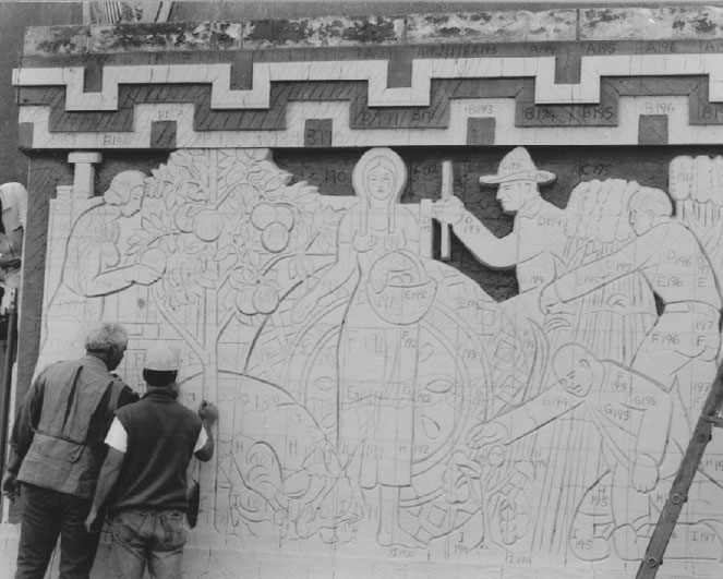 R alden marshall associates llc an art conservation for Bas relief mural